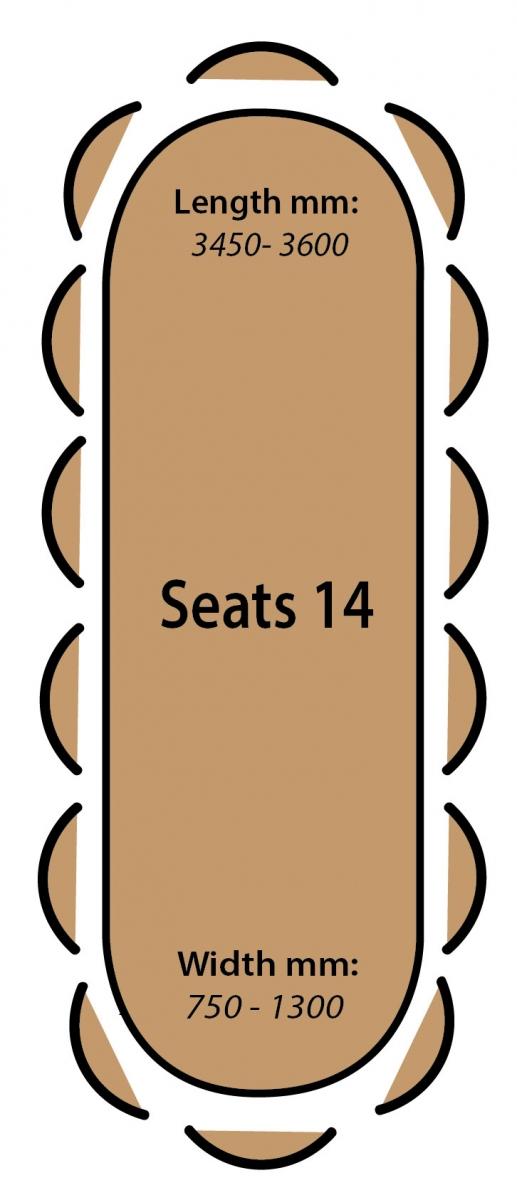 Seats 14