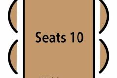 Seats 10