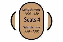 Seats 4