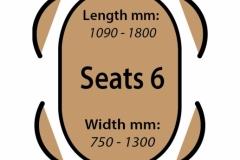 Seats 6