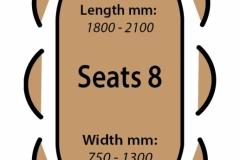 Seats 8
