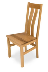 Solid Oak Chair, Real Oak Seat