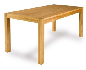 A beautiful simple table with legs in the corners.