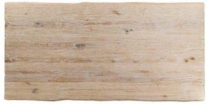 Oak Rectangular Rustic White Drawleaf Stainless Steel Leg Table