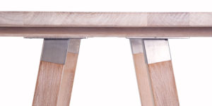 Solid Oak White Rustic Kitchen Or Dinning Table
