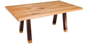 Oak Rustic Copper Colour Steel Leg Table