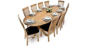 Spalted Beech Elliptical Twin Pod Table