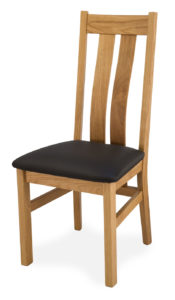Oak Chair with Leather Seat