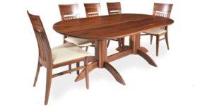 Walnut Oval Kitchen Table