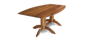 Walnut Curved Dinning Table