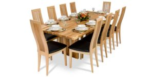Spalted Beech, solid timber cranoge dinning table
