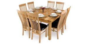 Spalted Beech, solid timber 4 leg dinning table