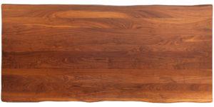 Walnut Rectangular Stainless Steel Leg Dinning Table