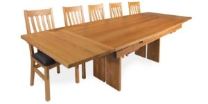 Oak Extending Drawleaf Kitchen Table