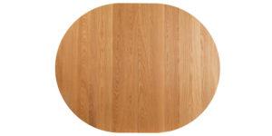 Oak Oval extending kitchen table arc pedestal base