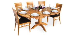 Oak Oval Flip top Extending Kitchen Table