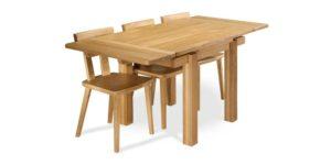 Solid Oak, rectangular drawleaf kitchen table