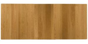 Oak Rectangular Extending Kitchen Table with centre Leaf