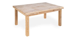 Solid Oak Rectangular Drawleaf Kitchen Table