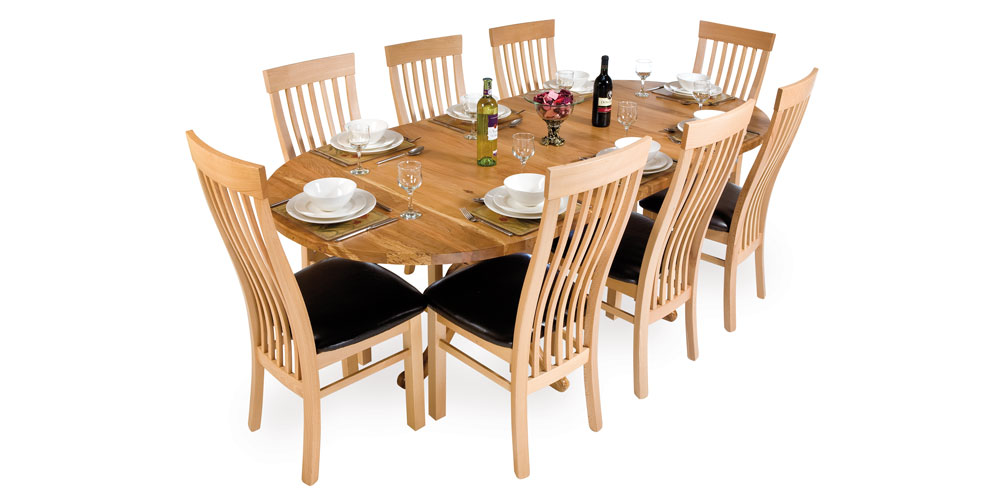 Spalted Beech Kitchen and Dining Table and Chairs