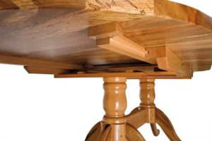 Irish Spalted Beech Oval Extending Kitchen Table Twin Pod Base