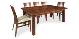 Solid Walnut Curved 4 Leg Kitchen and Dinning Table