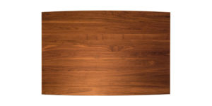 Solid Walnut Curved Drawleaf Cross Pod KitchenTable