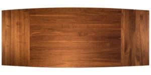 Solid Walnut Curved Drawleaf Cross Pod Kitchen Table