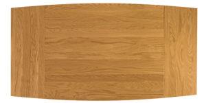 Solid Oak Curved Single Pedestal Extending Kitchen Table