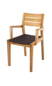 Mourne Solid Oak Carver Chair real leather seat.