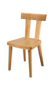 TT Bar Solid oak side chair with oak seat.