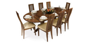 Solid Walnut Oval Extending Kitchen Table
