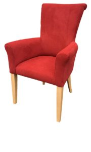 Mature Fabric Carver Chair