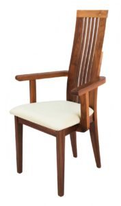 Turin Solid Walnut Carver Chair