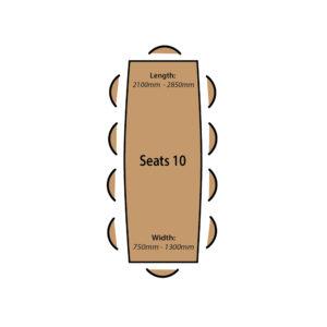 Seats 10 People.