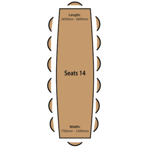 Seats 14 People.