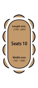 Seats 10 people