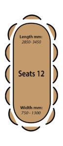 Seats 12 people