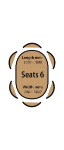 Seats 6 people