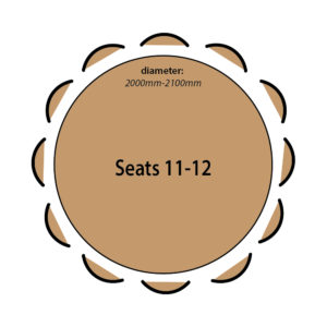 Seats 11 to 12 people