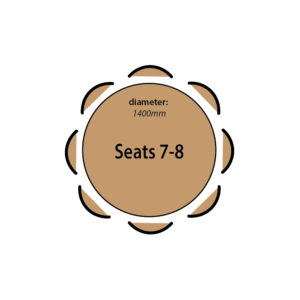 Seats 7 to 8 people