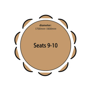 Seats 9 to 10 people