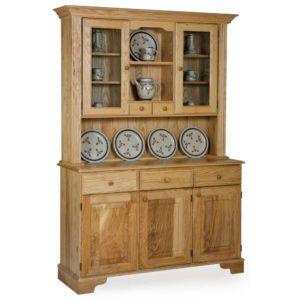 Ash 3/4 Glazed Spice Drawer Display Cabinet