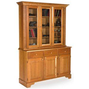Cherry Glazed Display Cabinet