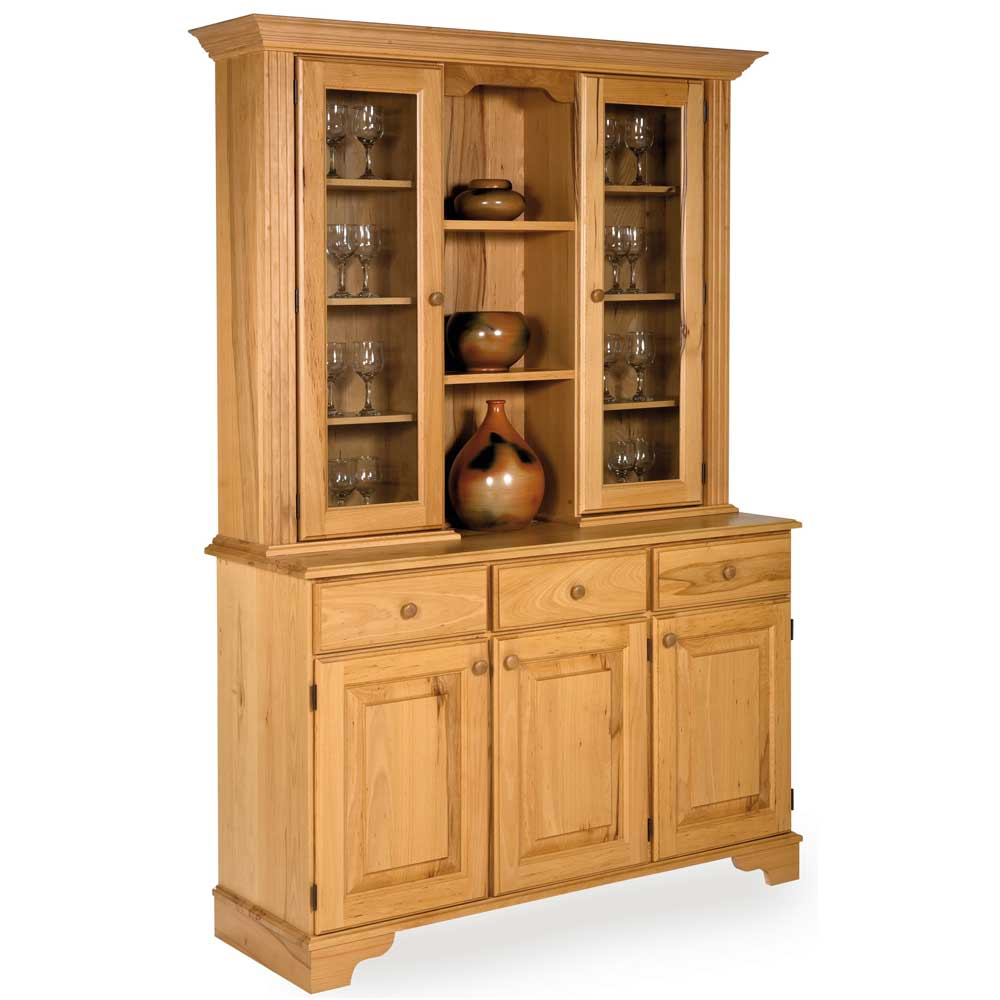 Flamey Beech Glazed Display Cabinet