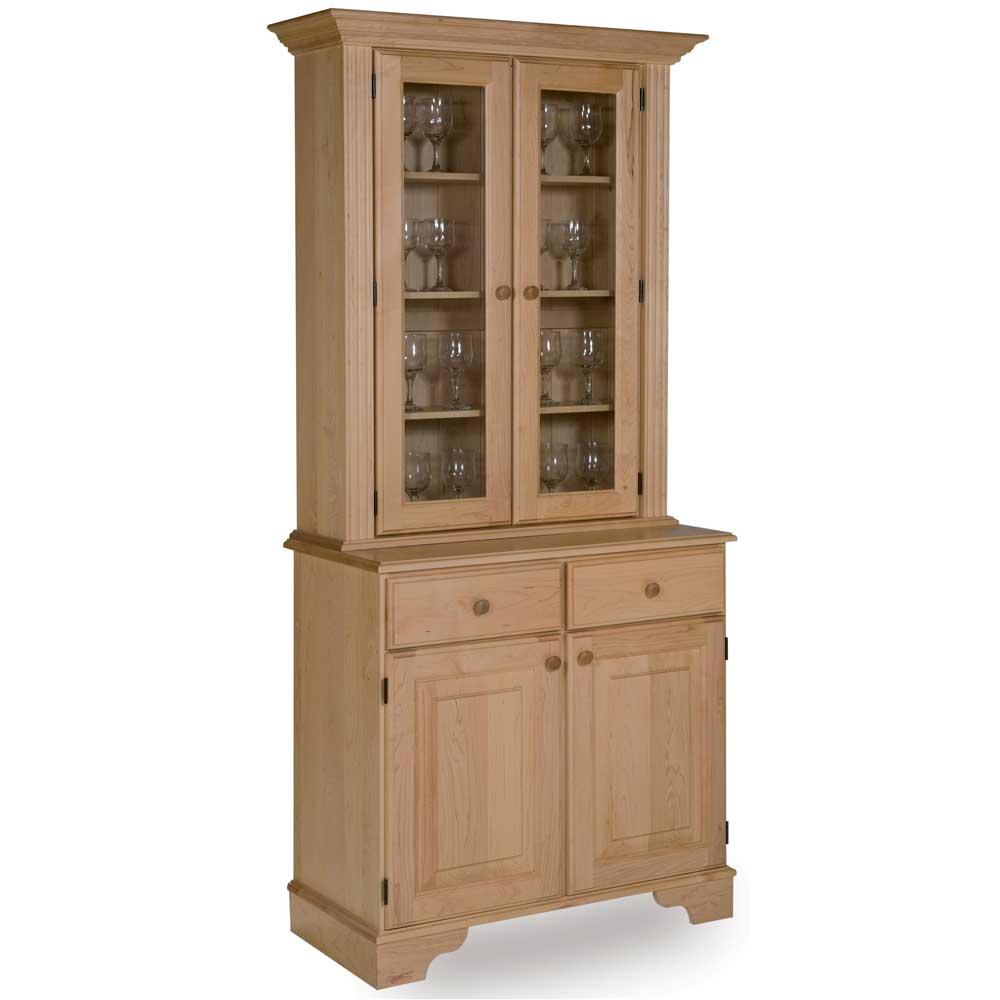 Maple Glazed Display Cabinet