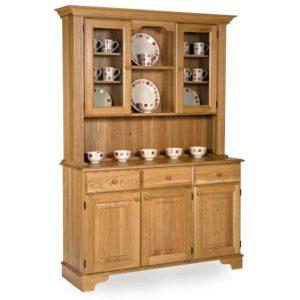 Oak ¾ Glazed Display Cabinet