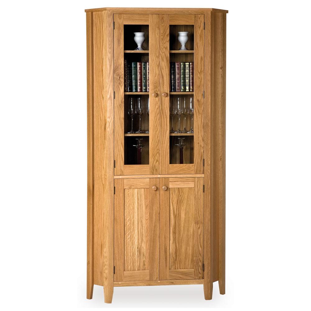 Oak Glazed Corner Cabinet