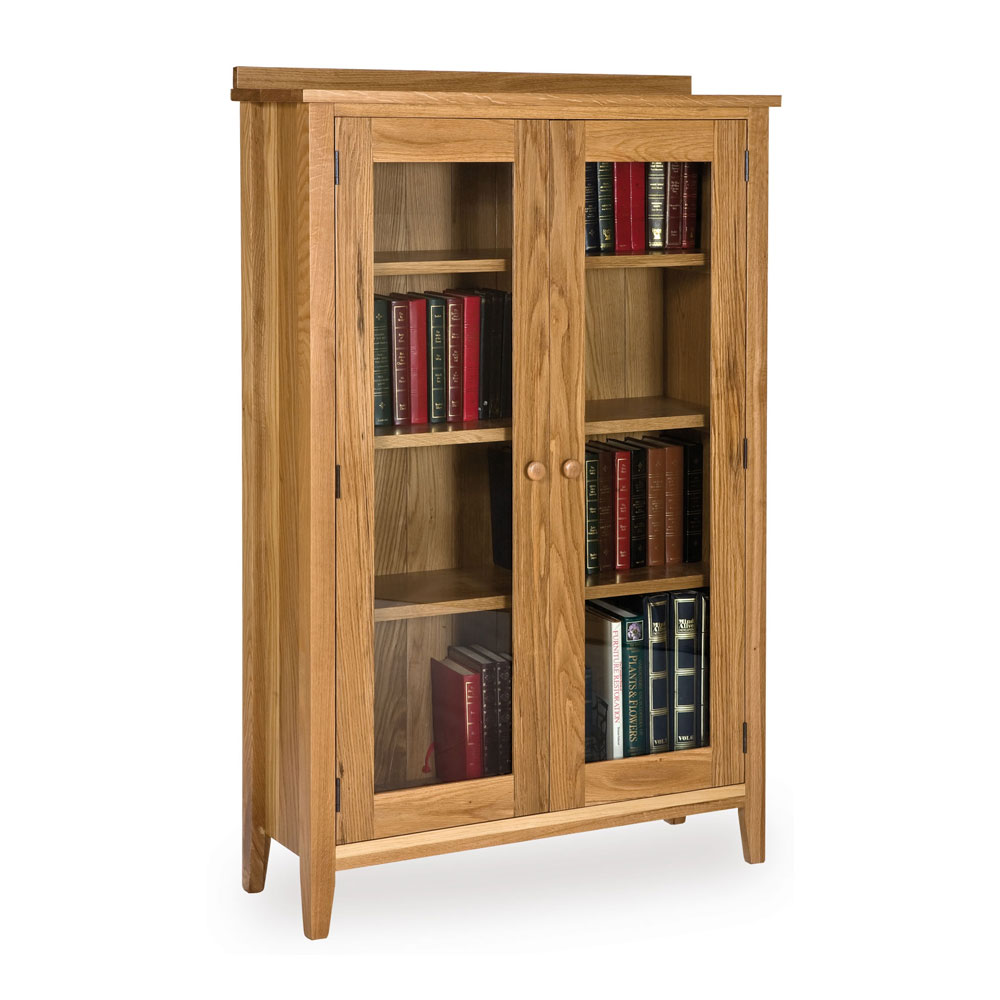 Oak Glazed Bookcase