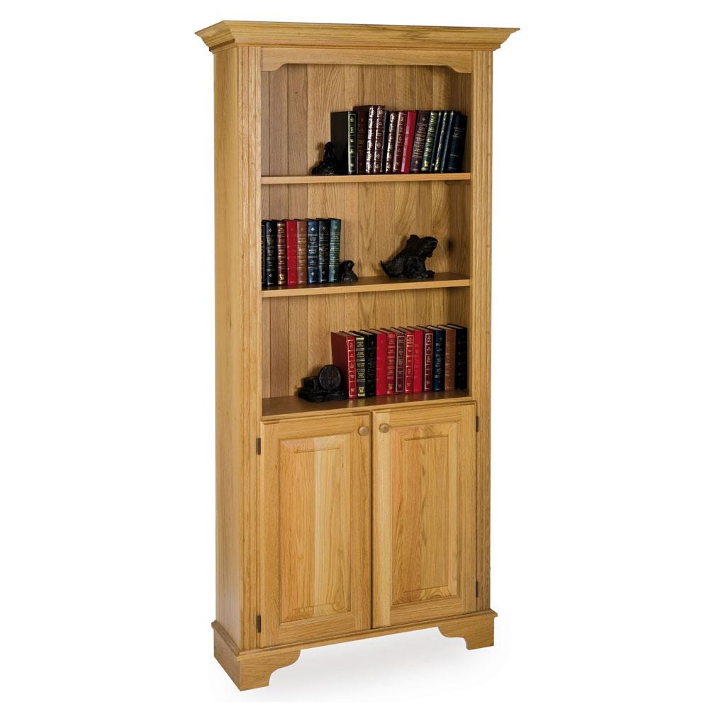 Oak Storage Bookcase